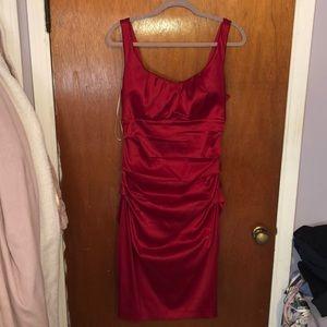 Gorgeous red midi dress